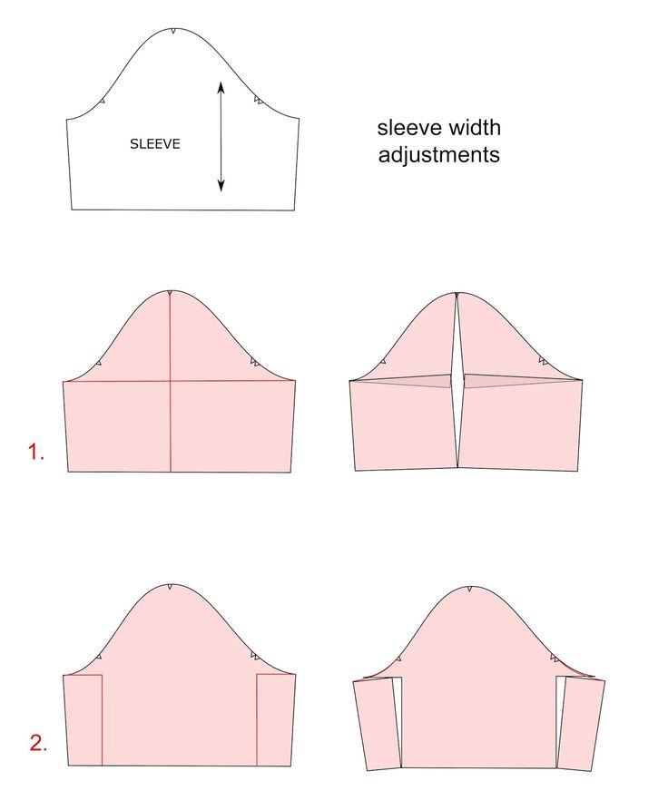 Sleeve width adjustment |pauline alice - Sewing patterns, tutorials, handmade clothing & inspiration