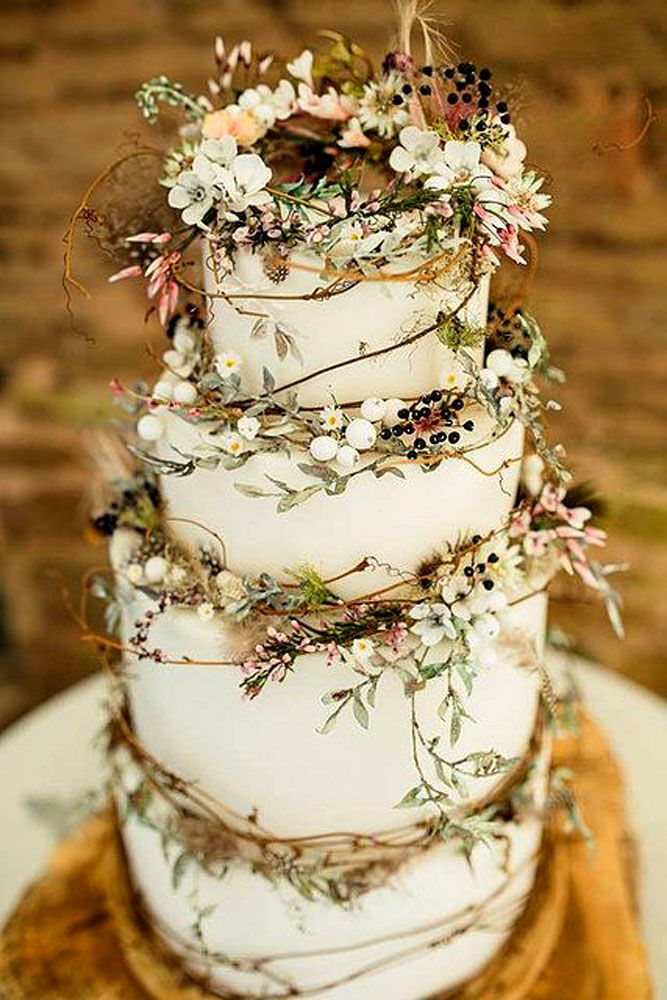 rustic barn wedding cakes 24 rustic wedding cakes with floral amp berry decorations 19485