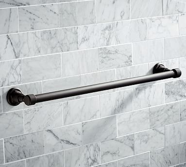 "Benchwright Towel Bar, 24"", Antique Bronze"