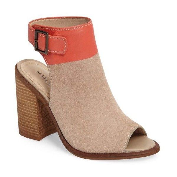 Women's Kelsi Dagger Brooklyn Milton Sandal (1,390 MXN) ❤ liked on Polyvore featuring shoes, sandals, suede sandals, color block sandals, block-heel sandals, buckle strap sandals and color block shoes