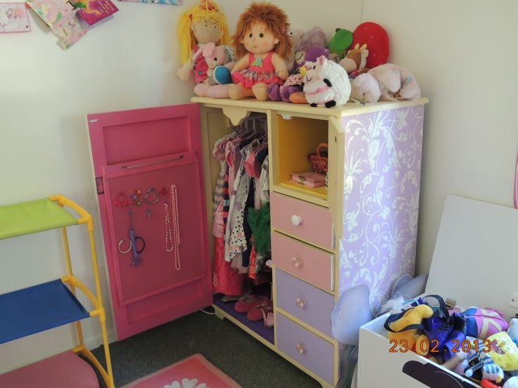 An Old Manrobe Converted To A Kids Dressup Cupboard