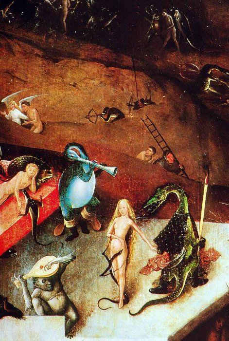 Hieronymus-Jérôme Bosch - Primitif Flamand - Le Jugement Dernier, detail.