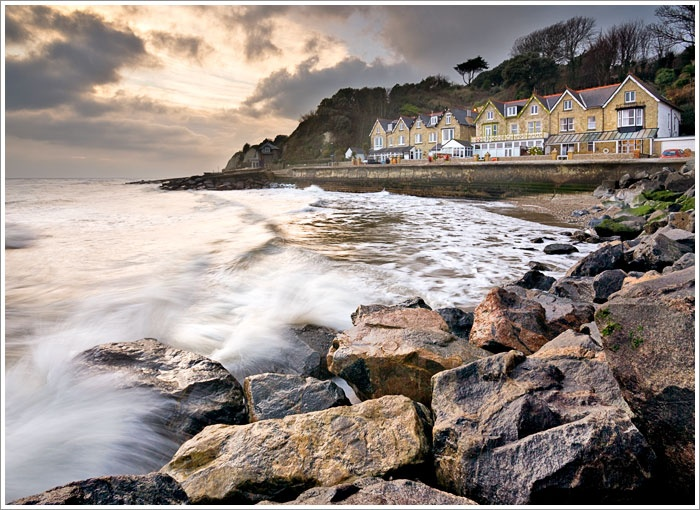 Bonchurch, Isle of Wight.    After a walk along the beach, go to the Bonchurch Inn for amazing pasta