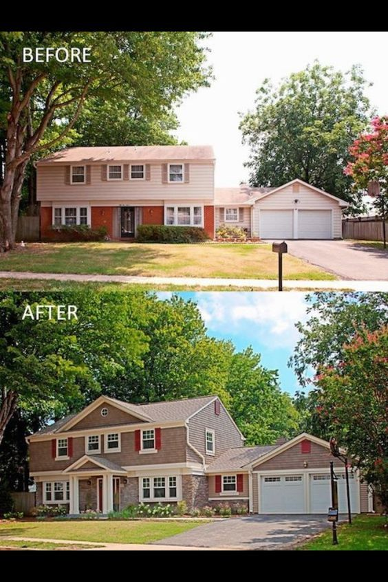 Best 25 home exterior makeover ideas only on pinterest for 1970 s split level remodel