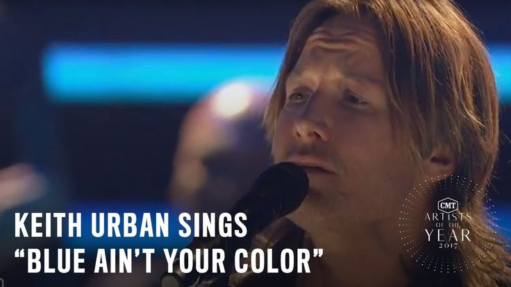 """Keith Urban Performs """"Blue Ain't Your Color""""   2017 CMT Artists of the Year - YouTube"""