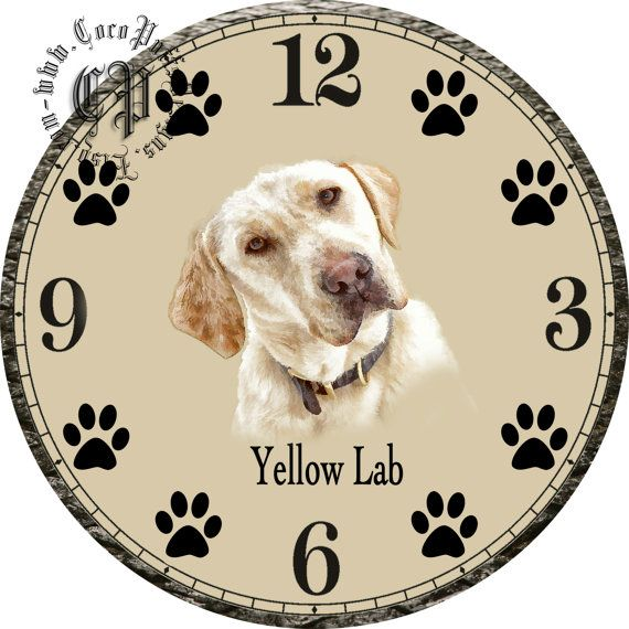 Tilted Portrait of a Yellow Lab Dog Art DIY от CocoPuffsDesigns