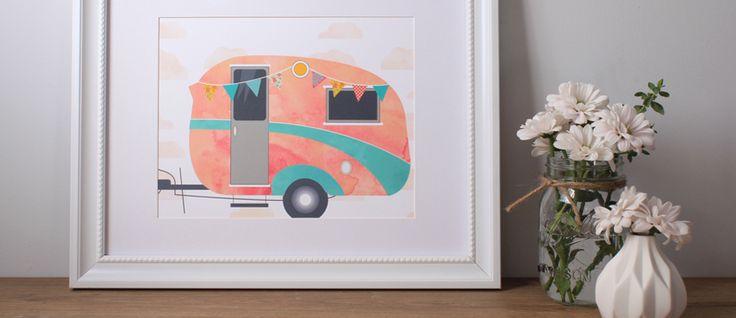 FREE Bohemian Vintage Caravan Art Print
