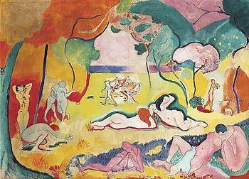 Le bonheur de vivre Bonheur Matisse.jpg Artist Henri Matisse Year Between October 1905 and March 1906 Type Oil on canvas Dimensions 176.5 cm × 240.7 cm (69.5 in × 94.75 in) Location Barnes Foundation, Philadelphia, Pennsylvania