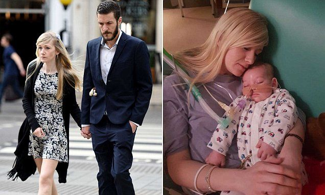 In peace at last: Little Charlie Gard's parents announce his death