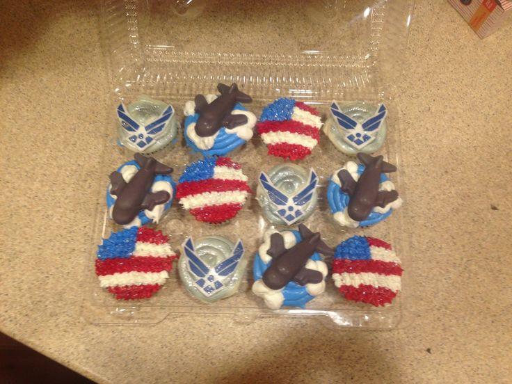 Air Force military cupcakes