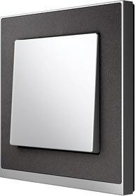 Merten M-Pure Decor, Wippe Aluminium für Schalter   Schalter und Steckdosen Mesch Elektrohandel