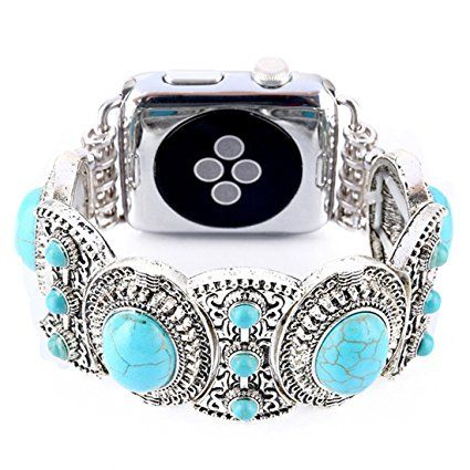 Handmade Apple Watch 3/2/1 Replacement Band, Fashion Holiday Gift Beaded Bracelet, Cool Birthday Wedding Christmas Gift for Women Girls, Apple Watch Series 38mm/42mm (Red-38): Amazon.ca: Cell Phones & Accessories