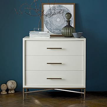 City Storage 3-Drawer Dresser - White $455 (33in wide)  would have to take out the bench to use this one