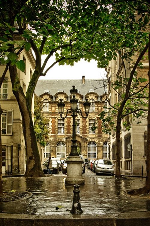 Saint Germain des Prés, Place Fürstemberg, Paris VI looks like a shot from the…