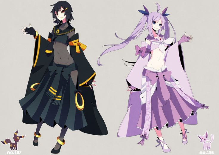human version gijinka pokemon, espeon, umbreon | Gijinka ...
