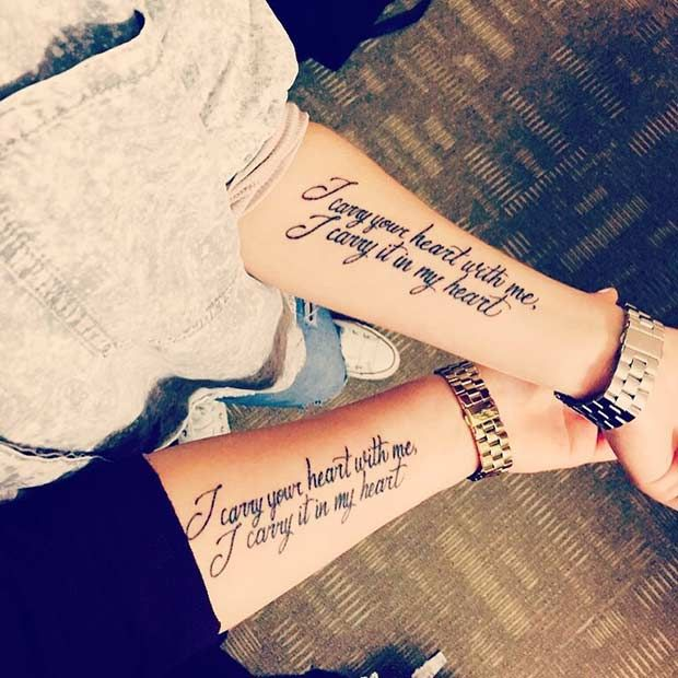 Quote Tattoos for Sisters