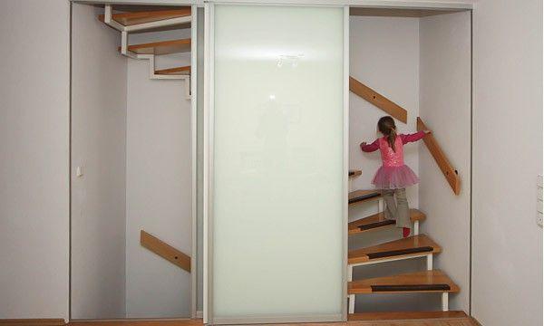 16 Raumhohe Schiebeturen Zum Treppenhaus Diele Mobel
