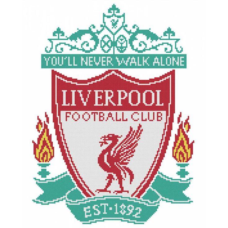 Liverpool FC cross stitch