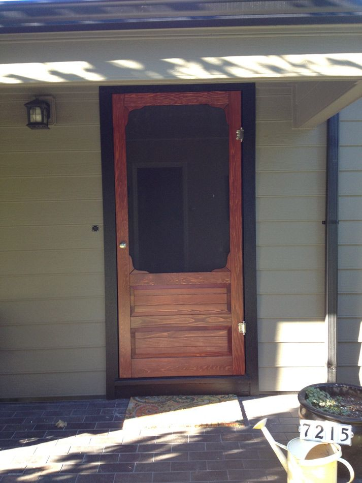 Coppa Woodworking Wood Screen Doors and Wood Storm Doors - Customer Photo Gallery