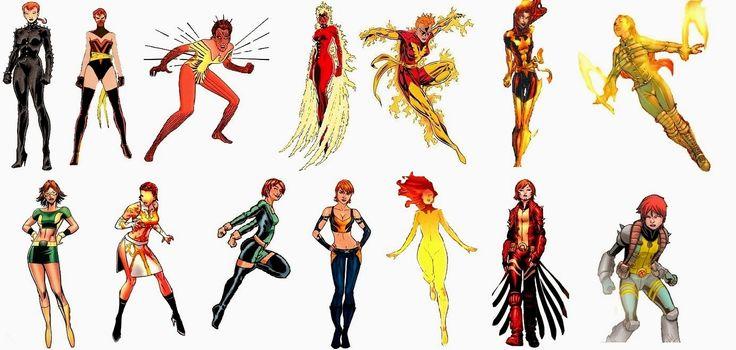 The Comic Book Hero: Rachel Grey's Phoenix/Marvel Girl costume history