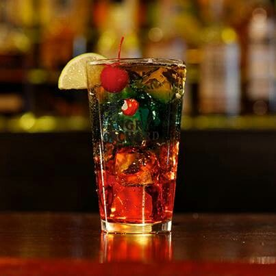 Angry Rain Storm Recipe: • 1oz Blue Curacao  • 1oz Raspberry Schnapps  • Fill with Angry Orchard Crisp Apple • Serve over ice