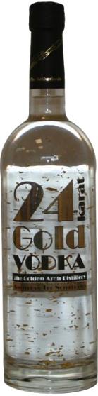 Vodka 24 Karat Gold Este aterciopelado Vodka 24 Kilates de oro de Holanda, con un contenido alcohólico de 43%, es una combinación de agua de ósmosis y el 100% de grano puro alcohol.Para si elaboración se utiliza oro comestibles de 24 Kilates, las cuales lo convierten en un vodka único de oro puro. Elaborado a partir de cereal en grano, se caracteriza por un alto grado de destilación del alcohol y por el filtrado intenso en carbón vegetal para permitir un alto grado de pureza del espíritu.