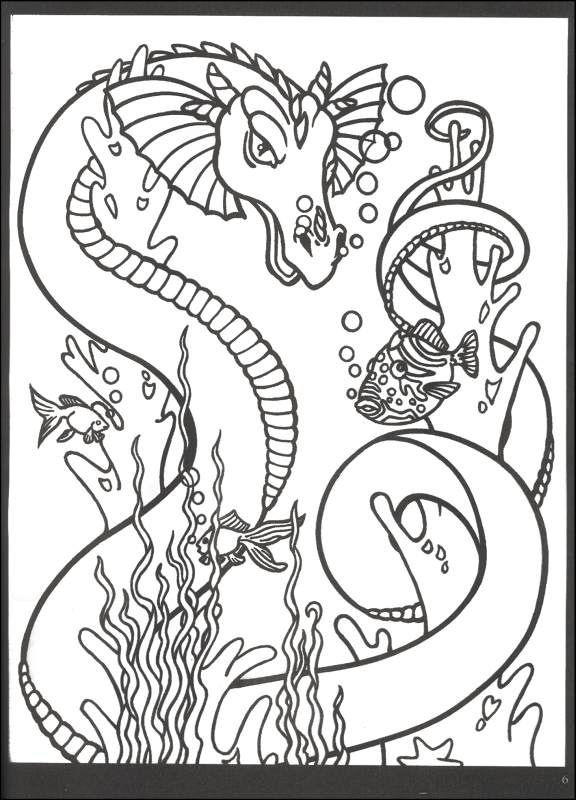 Rainbow Dragon Coloring Book