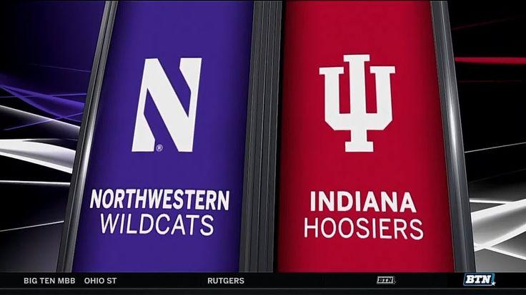 Northwestern at Indiana - Men's Basketball Highlights - YouTube