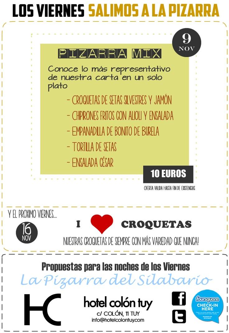 viernes en La Pizarra del Silabario: Nuestras especialidades todas juntas!