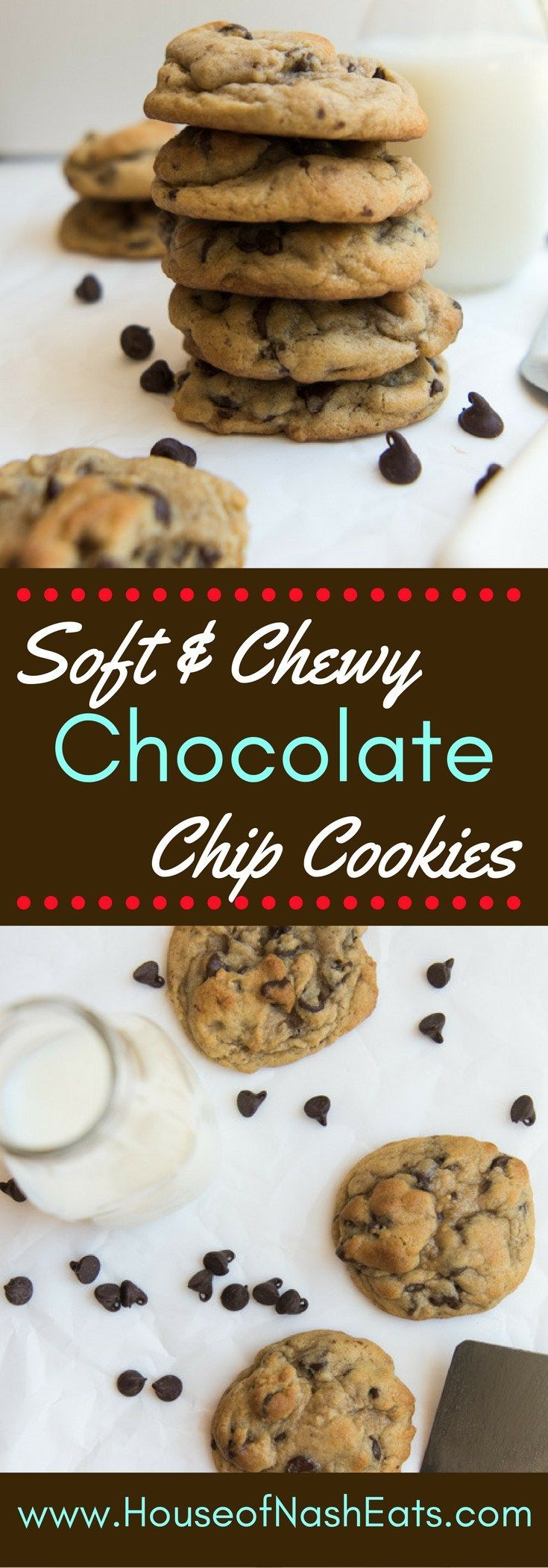 These soft & chewy chocolate chip cookies are everything you could ever want…