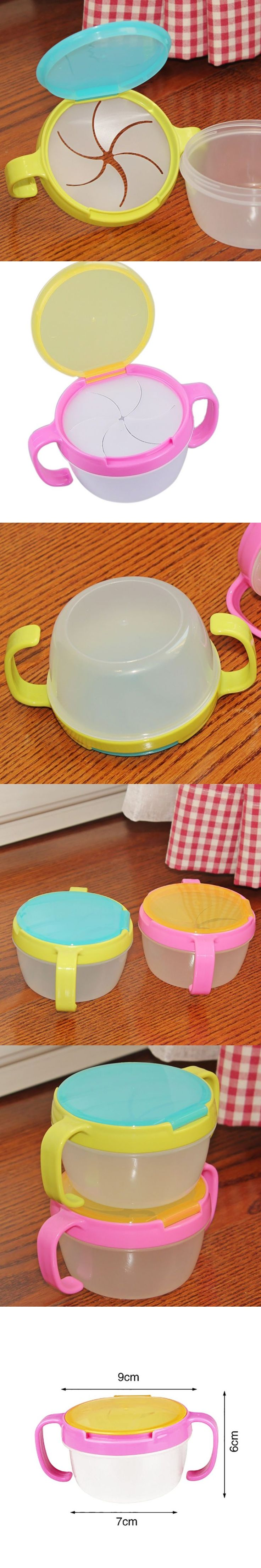 New Arrived Funny Infant Baby Feeding Bowl Toy Double Handle Spill Proof Cup Biscuits Snack Bowl Gift Kids Accessories