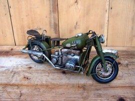 Machete motociclete retro - Harley verde