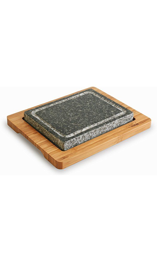 Artestia Sizzling Hot Stone Set with Stainless Steel Tray and Bamboo Platter, Deluxe Tabletop Barbecue / BBQ / Hibachi / Steak Grill Best Price