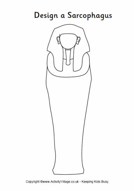 Design a sarcophagus printable - outline sarcophagus to ...