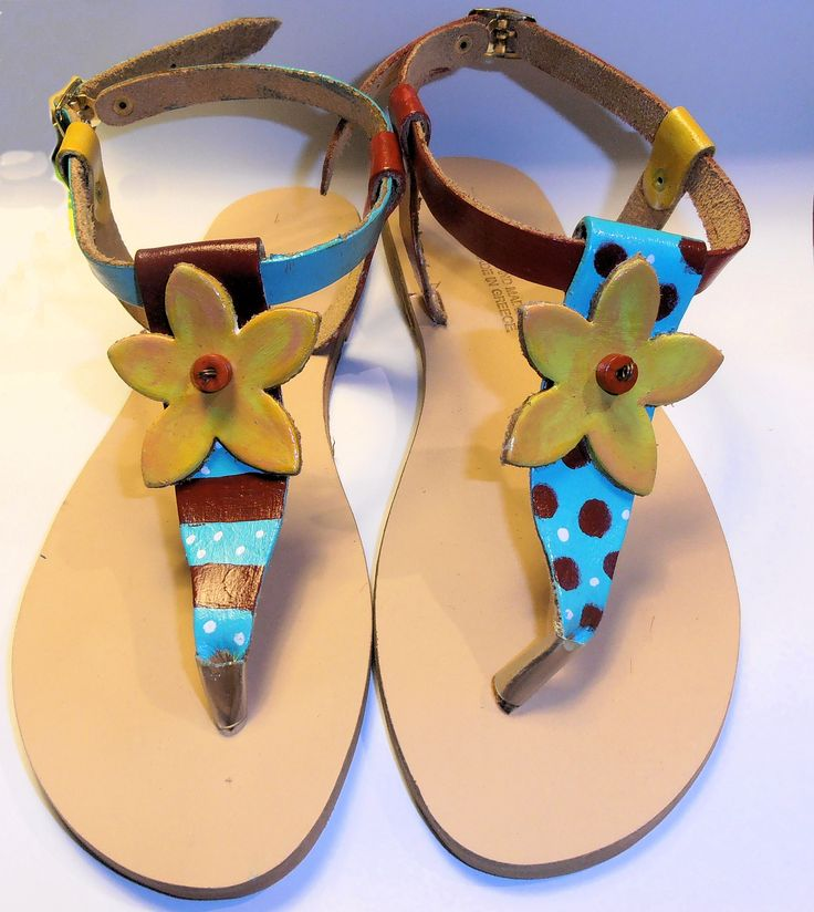 Leather sandals!