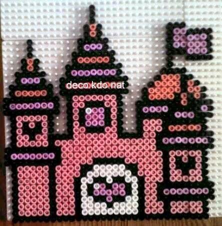 Fairy castle hama perler beads by deco.kdo.nat