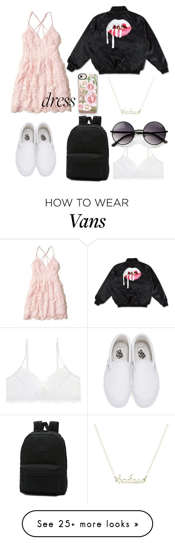 """lacey vans"" by sattadauda on Polyvore featuring Hollister Co., Vans, Casetify and ZeroUV"
