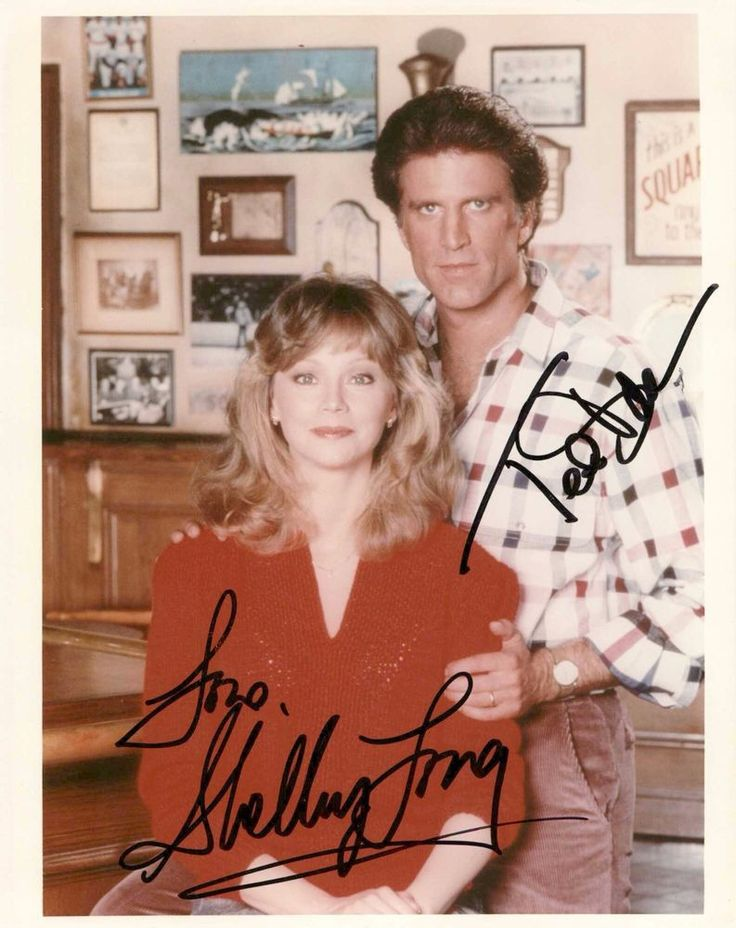 """TED DANSON & SHELLEY LONG SIGNED """" CHEERS """" PHOTO"""