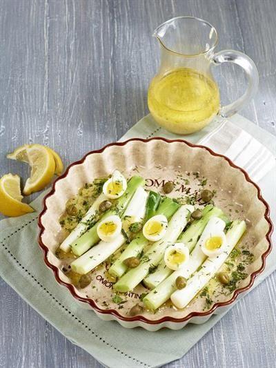 Leeks Vinaigrette & Herbed Quail Eggs