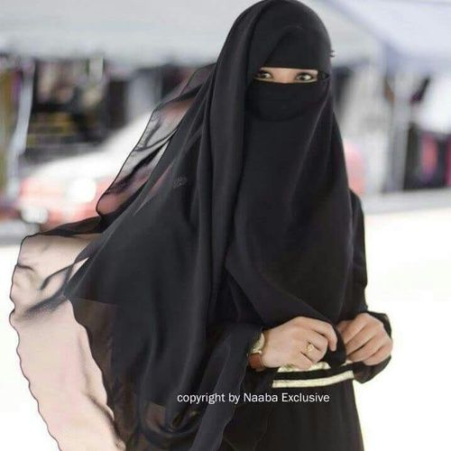 Long Beautiful Flowing Niqab