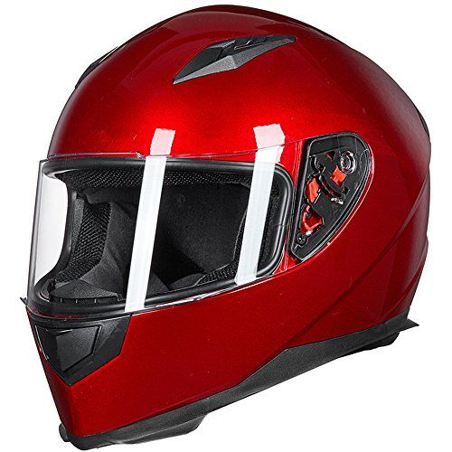 $50--ILM Full Face Motorcycle Street Bike Helmet with Removabl...