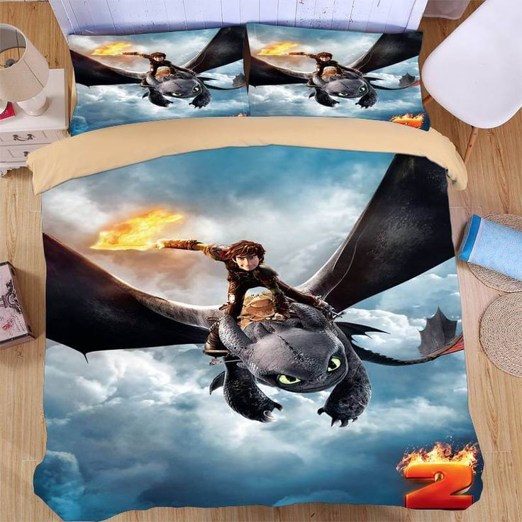 85 best cartoon duvet cover set images on pinterest cartoon how to train your dragon duvet cover set ccuart Image collections