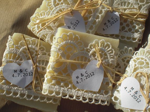 Love this idea for wedding favors especially if I go with the burlap and lace theme. Handmade soaps.
