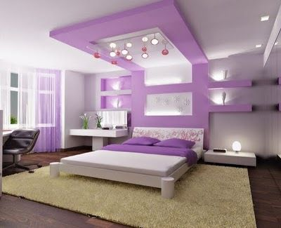 Beautiful bedroom home design.
