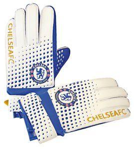 Chelsea Goalie Gloves Kids - Blue and White £13.40