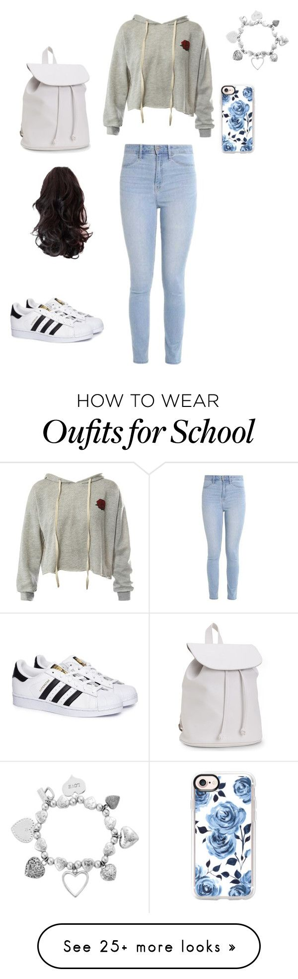 Time to go to school by rodiana151 on Polyvore featuring Sans Souci, Hollister Co., adidas, Aéropostale, Casetify and ChloBo