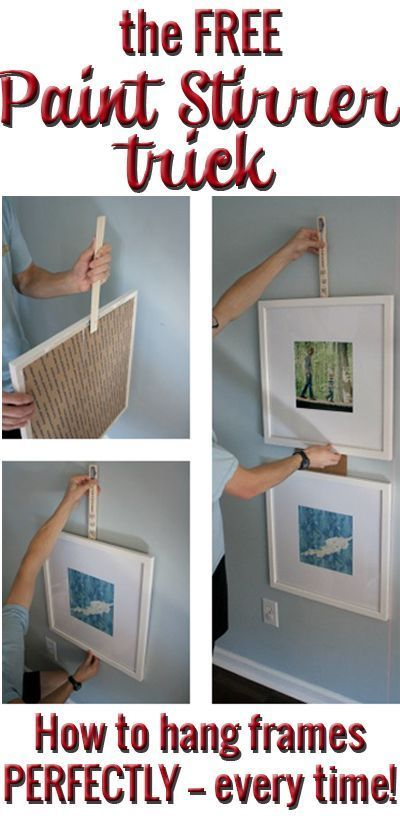 BRILLIANT! The free way to remove all aggravation from hanging picture frames! Hang them quickly and easily from now on!