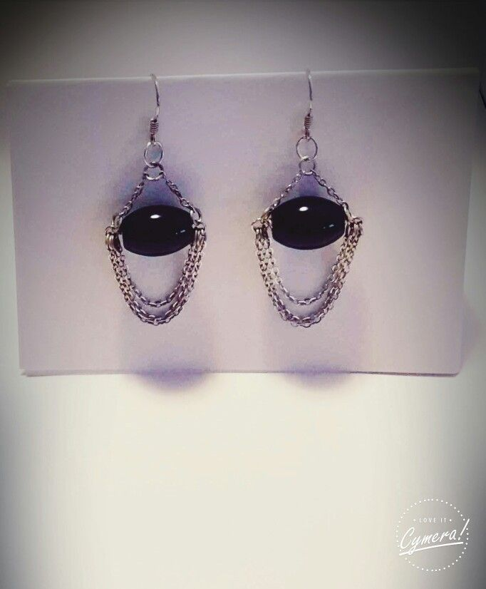 20€ Earrings silver 925 and black onyx