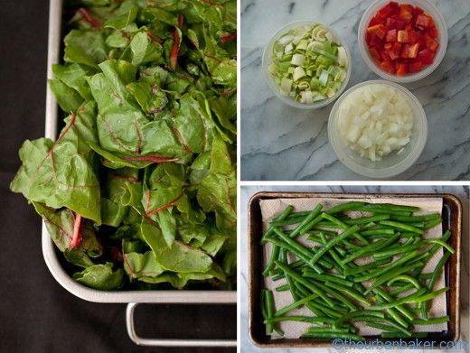 Prep your veggies in advance for easy unprocessed meals | @Susan Salzman | www.theurbanbaker.com