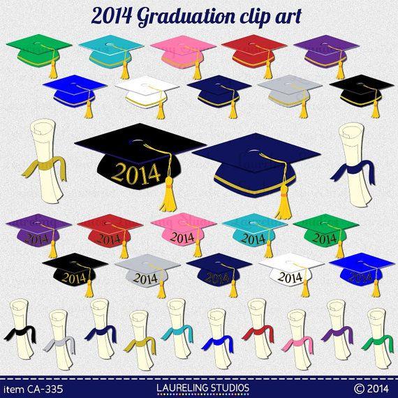 2014 Graduation clip art make decorations, cards, invites/Evites  $3.49 Etsy Laureling Studios